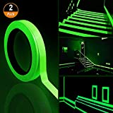 2PCS Luminous Tape,10m x 10mm Glow in Dark Tape Waterproof Fluorescent Adhesive Tape