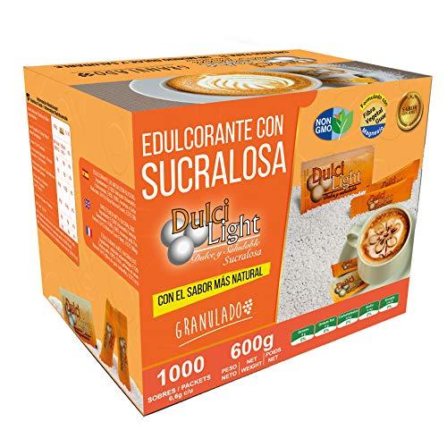 DULCILIGHT SUCRALOSA NATUREL ,1000 Sticks, Édulcorant Granulé Catégorie Gourmet À LA SAVEUR NATURELLE DU SUCRE