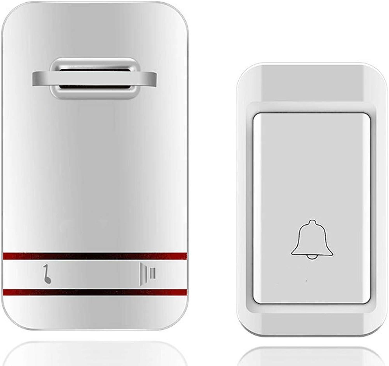 Selfgenerating Wireless Home doorbell Old Caller Electric Waterproof doorbell (color   White)