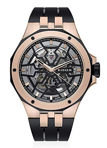 EDOX 85303 357RN NRN - Reloj de pulsera analógico para hombre (mecanismo automático)