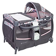 Swing-away changing table and a wipes/diaper stacker make it easy to replace baby's diapers Music center with volume control and a night-light lets you calm your little one with soothing melodies and nature sounds Functions as a bassinet with the mul...