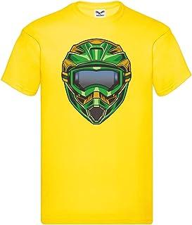 Camiseta unisex para niños y niñas con casco de motocross extremo.
