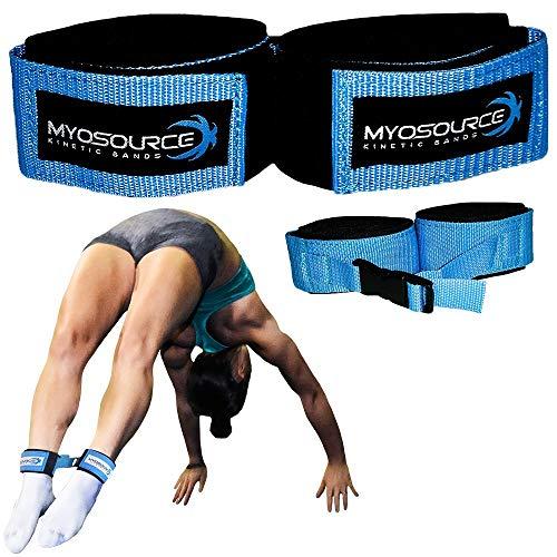 Myosource Kinetic Bands Tumble Pro X Ankle Straps – Cheerleading, Gymnastics Tumble Training Defrogger Keeps Ankles Together During Stunting and Back Tuck, Handspring Skills Training – Adjustable