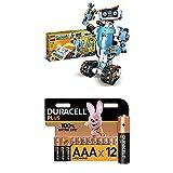 LEGO 17101 Boost Programmierbares Roboticset, 5-in-1 App-gesteuertes Modell, interaktiven Roboter Spielzeug und Bluetooth-Funktion + Duracell Plus AAA Alkaline-Batterien, 12er Pack