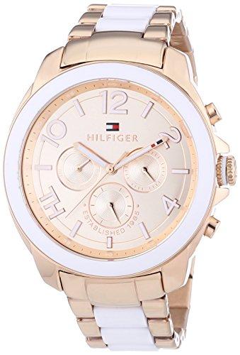 Tommy Hilfiger 1781393 - Reloj de Cuarzo para Mujer, Correa de Diversos Materiales Multicolor
