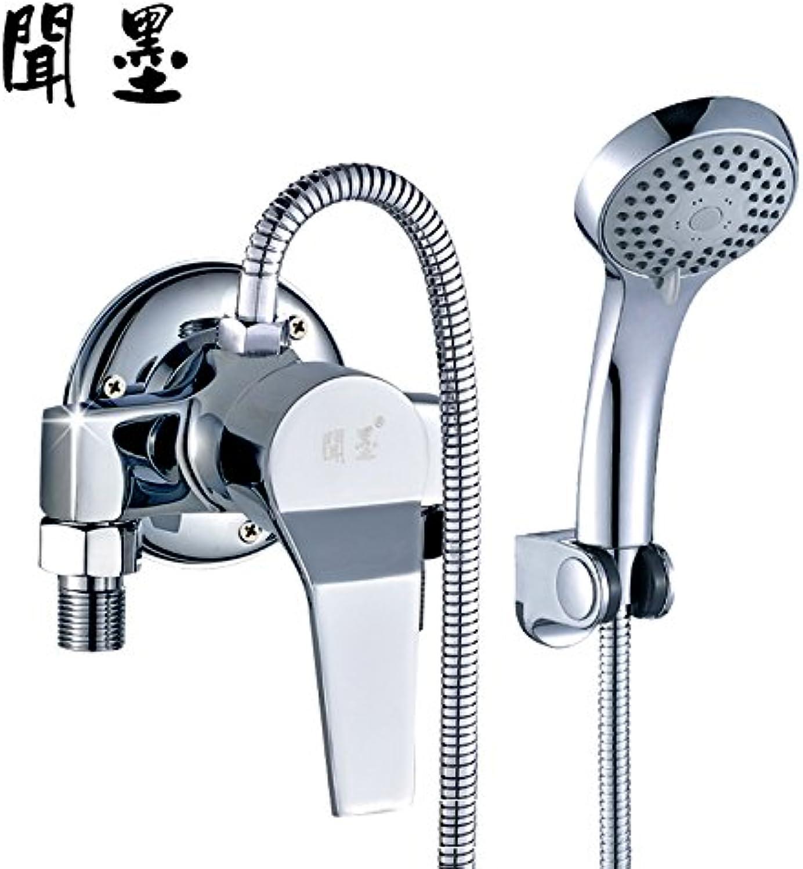 Bijjaladeva Wasserhahn Bad Wasserfall Mischbatterie WaschbeckenWasser in der Dusche Mischventil Voll Kupfer in der Dusche Pack Warme und Kalte Dusche Badewanne Dusche Mixer Mixer