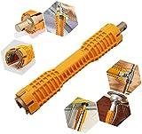 RENNICOCO Clé de Robinet, Outil de clé d'évier, Outil de plomberie Tout Usage pour Installation de Toilettes, Installation d'une réparation de Cuisine de Salle de Bains, Installation d'outils à Main