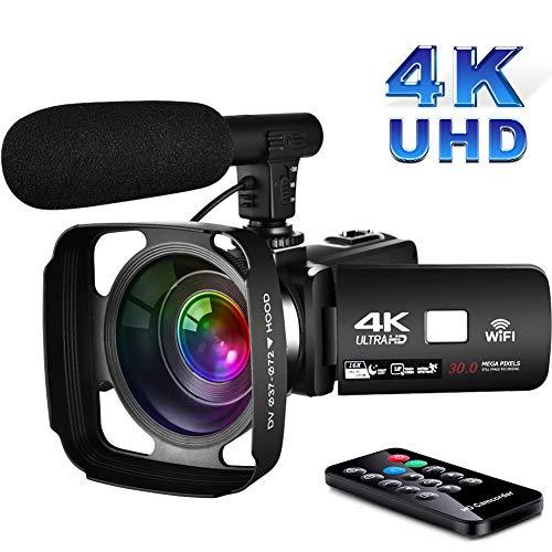 Videocamara Digital con WiFi Videocamara 4KPantalla táctil de 3.0...