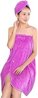 Martinimble Funny Shower Caps,Women Bath Skirt Shower Cap Set Soft Bowknot Quick Dry Portable Wrap Towel Lady Bath Towel Bathrobe