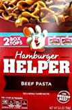 2 - 5.6oz Boxes of Hamburger Helper BEEF PASTA by Betty Crocker Beef pasta skillet-meal mix of pasta and sauce mix for hamburger. ADD YOUR OWN TWIST... Stir in 1 cup cooked corn or 1 cup cooked peas and carrots for a veggie boost. If you want a bit o...