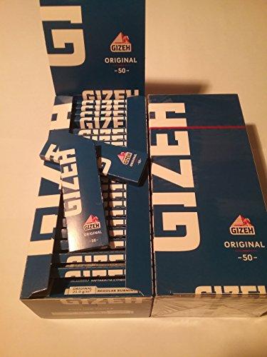 2x Caja 50 libritos Papel fumar Gizeh Azul Original