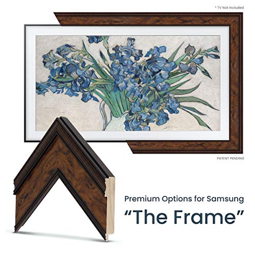 Cheapest Price! Deco TV Frames - Burlwood Frame Custom for Samsung The Frame TV (75)