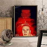 SDFSD Nuevo Drama de Ciencia ficción Vintage Poster TV pictórico Stranger Things Dormitorio Decoración para el hogar Guardería Niños Habitación Lienzo Pintura 60 * 80 cm O