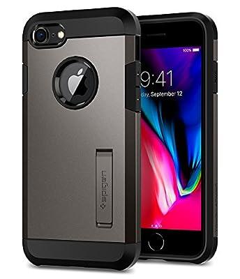 Spigen Tough Armor [2nd Generation] Designed for Apple iPhone 8 Case (2017) / Designed for iPhone 7 Case (2016) - Gunmetal