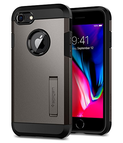 Spigen Funda Tough Armor Compatible con iPhone 8 y Compatible con iPhone 7 - Bronce Gris