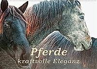 Pferde - kraftvolle Eleganz (Wandkalender 2022 DIN A2 quer): Einzigartige Momentaufnahmen von Pferden (Monatskalender, 14 Seiten )