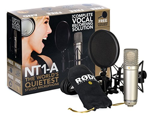 Most Quiet Studio Microphone:  Rode NT1-A Anniversary Vocal Cardioid Condenser
