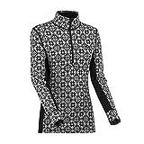 Kari Traa - Camiseta térmica de lana merina con media cremallera para mujer - Negro - X-Large