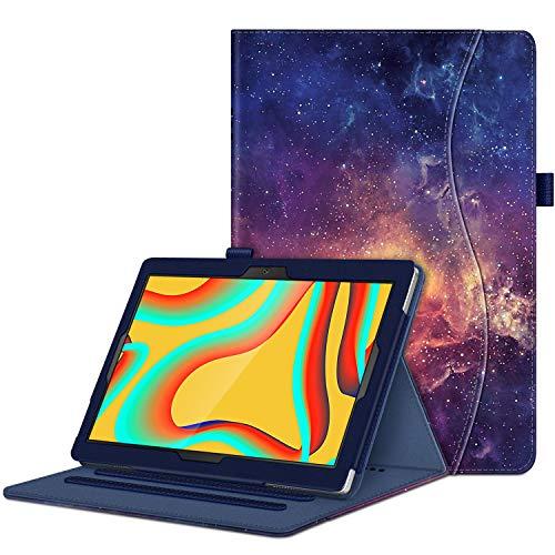 Fintie Funda para Vankyo S30 Tablet 10 Pulgadas -  [Protección de Esquina] Carcasa de Ángulos Múltiples con Bolsillo Función de Soporte,  Galaxia