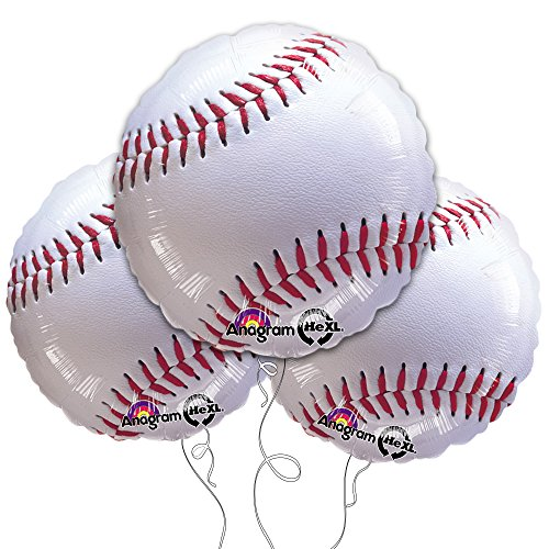"Baseball 18"" Mylar Balloon 3pk by Anagram"