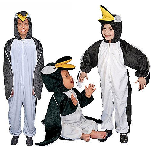 Dress Up America Pinguin-jumpsuit voor volwassenen
