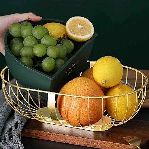 UNIKON Fruit Basket Fruit Bowl, Wire Fruit Storage Holder Fruit Dish for Vegetables,Bread, Snacks, Candy