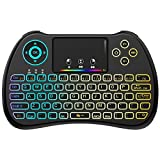 (Upgraded Version) Aerb 2.4GHz Colorful Backlit Mini Wireless Keyboard...