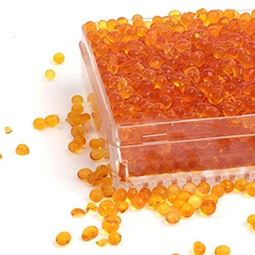 EXMAX Indicating Silica Gel Beads(2-4mm) Dry Pack Hard Plastic Canister Desiccant Humidity Moisture Absorb Box Dryer for Camera Microscope Telescope Video Tape -2 Pack(Orange)