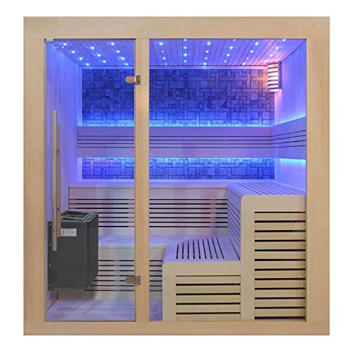 EO-SPA Sauna B1213A helle Pinie/220x200/9kW EOS BiO-Thermat