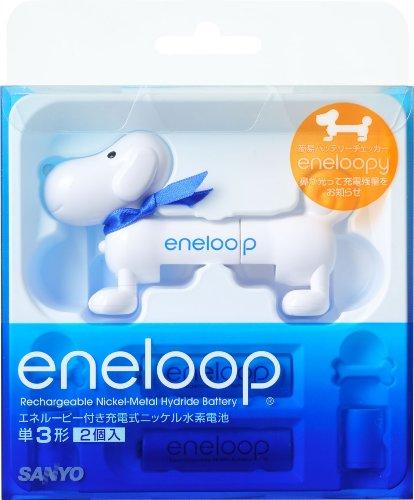 SANYO NEW eneloop 簡易バッテリーチェッカーエネルーピー付き 充電式ニッケル水素電池 (単3形2個) HR-3UTGA-2LP