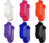 Lucky 21 Non Slip Skid Socks with Grips, For Hospital, Yoga, Pilates, (Pack6/6color), X-Large