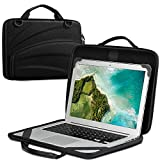 FINPAC 13-14 Inch Chromebook Sleeve Case - Protective Briefcase Shoulder Bag with Accessory Pouch for Up to 14' Laptop Notebook Ultrabook, Black