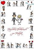 """XXL Glückwunschkarte Hochzeit gross""""LUSTIGE HOCHZEITSKARTE"""" im DIN A 4-Format mit Umschlag von EDITION COLIBRI © - umweltfreundlich, da klimaneutral gedruckt (10686)"""