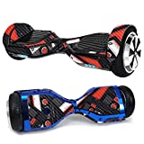 MightySkins Carbon Fiber Skin for Ultra Hoverboard - Mixtape | Protective, Durable Textured Carbon Fiber Finish | Easy to Apply, Remove, and Change Styles | Made in The USA