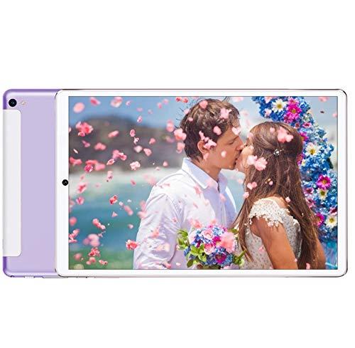 DUODUOGO Tablet 10 Pulgadas Baratas y Buenas 4GB RAM 64GB ROM Android 9.0 Pie Tablet PC 10' Buenas WiFi 8000mAh Quad-Core Dual SIM Tabletas de función de Llamada 4G Netflix/GPS (Rosa)