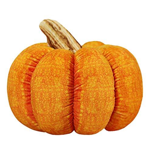ZQH Halloween KüRbis PlüSch Kissen, Stofftier Sitz UnterstüTzung Bett Kissen Stuhl Autositz Fluffy Throw Kissen...