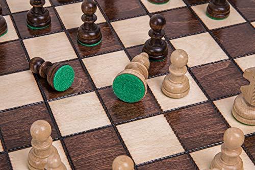 Square - Schach Schachspiel - Olympia - 35 x 35 cm - Schachfiguren & Schachbrett aus Holz