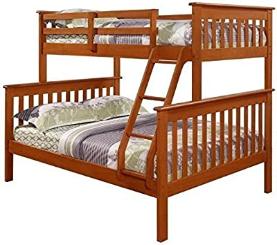 Amazon Com Kings Brand Furniture Wood Twin Size Bunk Bed Bunkbed