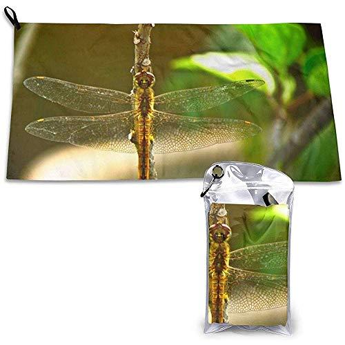 EXking Dragonfly patroon sportreisdoek compact, sneldrogend, absorberend, zandvrij, handdoek voor op reis, strand, zwemmen