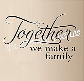Together We Make a Family Vinyl Wall Decal Sticker Home Decor Wall Letters 12