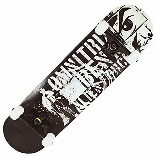 Skateboard Completo 80 * 20 cm 31 * 8 Pulgadas, Varios Estilos de patinetas Principiantes para niños y monopatines para Adultos, patinetas para niños y niñas Altas Llantas elásticas