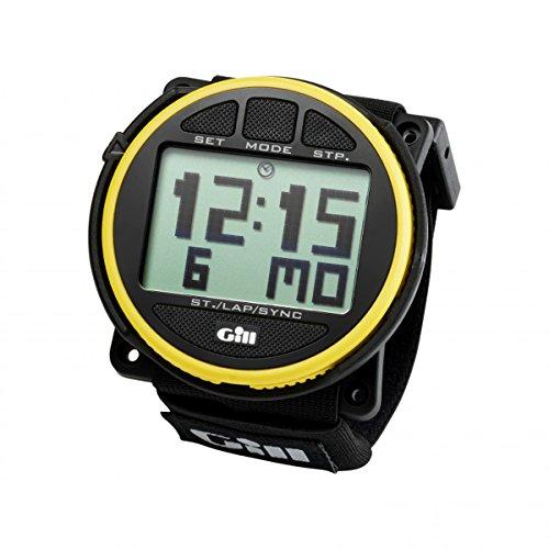 Gill Regatta Race Timer Uhr Yellow Black Buttons - Unisex - Volles Punktmatrixdisplay mit Acrylgesicht
