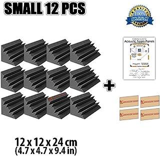 Super Dash 12 Unidades de 12 X 12 X 24 cm Insonorización Negro Bass Trap Espuma