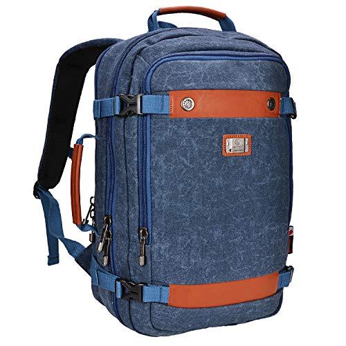 WITZMAN Canvas Backpack Men Vintage Travel Rucksack Laptop Daypack Weekend Duffel Handbag...