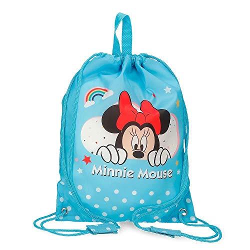 Disney Minnie Rainbow Bolsa de Merienda Azul 27x34 cms Poliéster