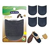 Unikstep 2 Pairs Shoe Heel Pads, Shoe Repair Rubber Heels, 3.5mm Thickness Anti Slip Cushion and Protector, Replacement Kit with Nails Sandpapers Self Adhesive Stickers