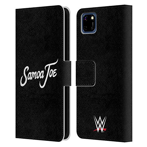 Head Case Designs Officially Licensed WWE Logo Samoa Joe Leather Book Wallet Case Cover Compatible with Huawei Y5p / Honor 9S