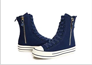 lcky Wedge Sneakers Casual Shoes Ladies Shoes high Canvas Shoes