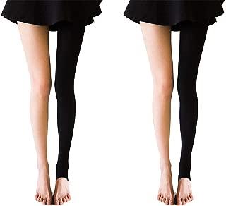Longwu 美脚 立体着圧 タイツ ストッキング トレンカ 1足/2足組 春夏 透けない 脚を細くする ヒップアップ 毛玉が出来にくい むくみ対策 保温 防寒 冷え対策