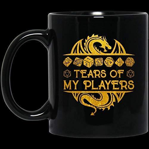 Divertida taza de café de Navidad para Halloween, regalo, lágrimas de mis jugadores, taza de café de cerámica, 11 oz
